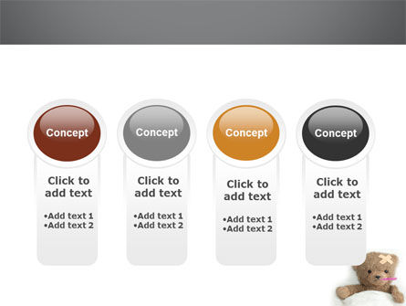 Wounded Teddy Bear PowerPoint Template Slide 5