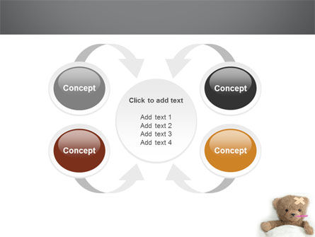 Wounded Teddy Bear PowerPoint Template Slide 6