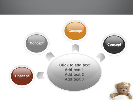 Wounded Teddy Bear PowerPoint Template Slide 7