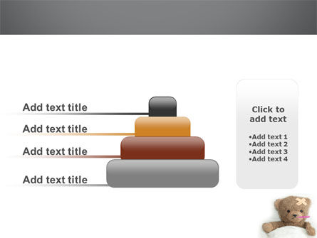 Wounded Teddy Bear PowerPoint Template Slide 8