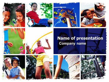 Education & Training: Children Playing PowerPoint Template #06032