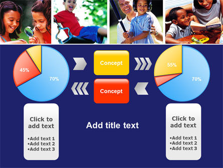Children Playing PowerPoint Template Slide 11
