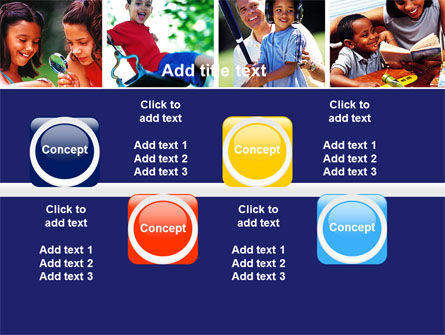 Children Playing PowerPoint Template Slide 19