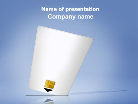 Electronic Card PowerPoint Template, 06033, Technology and Science — PoweredTemplate.com