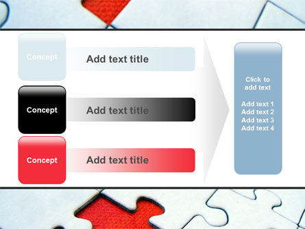 Last Red Piece to Complete Puzzle PowerPoint Template Slide 12