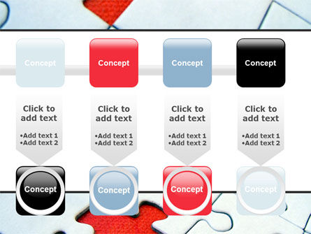 Last Red Piece to Complete Puzzle PowerPoint Template Slide 18