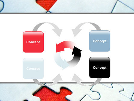 Last Red Piece to Complete Puzzle PowerPoint Template Slide 6