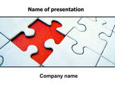 Consulting: Last Red Piece to Complete Puzzle PowerPoint Template #06039