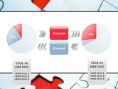 Last Red Piece to Complete Puzzle PowerPoint Template#11