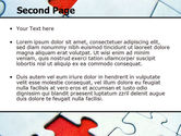 Last Red Piece to Complete Puzzle PowerPoint Template#2