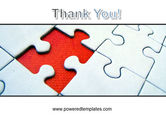 Last Red Piece to Complete Puzzle PowerPoint Template#20