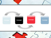 Last Red Piece to Complete Puzzle PowerPoint Template#4