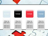 Last Red Piece to Complete Puzzle PowerPoint Template#5