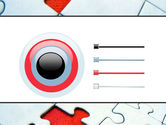 Last Red Piece to Complete Puzzle PowerPoint Template#9