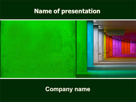 Colorful Corridors PowerPoint Template, 06040, Business Concepts — PoweredTemplate.com
