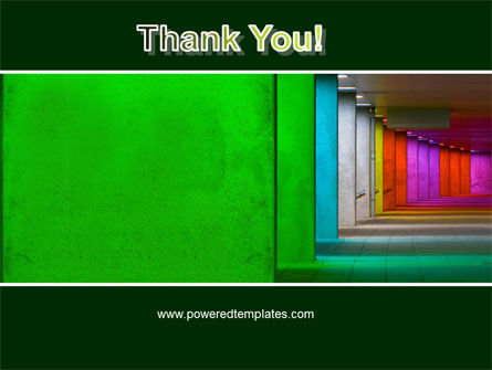 Colorful Corridors PowerPoint Template Slide 20