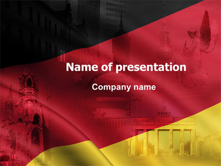 Germany Tricolor PowerPoint Template
