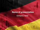 Flags/International: Germany Tricolor PowerPoint Template #06041
