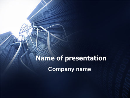 Wired Telecommunication PowerPoint Template, 06042, Technology and Science — PoweredTemplate.com