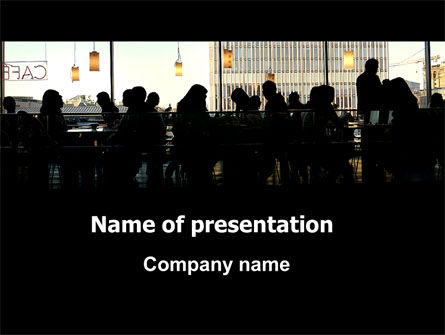 Careers/Industry: Cafe PowerPoint Template #06044