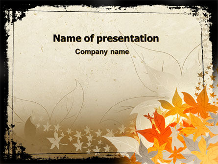 Abstract/Textures: Autumn Pattern PowerPoint Template #06045