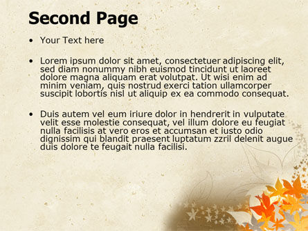 Autumn Pattern PowerPoint Template Slide 2