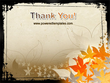 Autumn Pattern PowerPoint Template Slide 20
