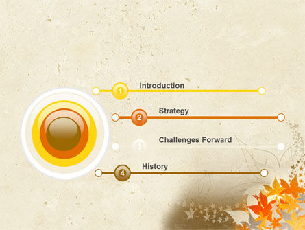 Autumn Pattern PowerPoint Template Slide 3