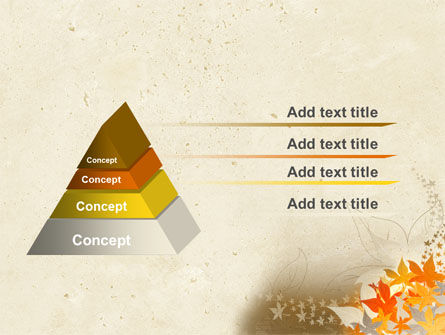 Autumn Pattern PowerPoint Template Slide 4