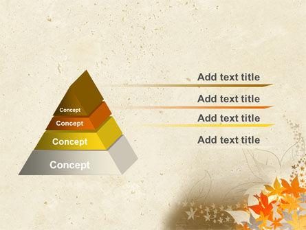 Autumn Pattern PowerPoint Template Slide 4