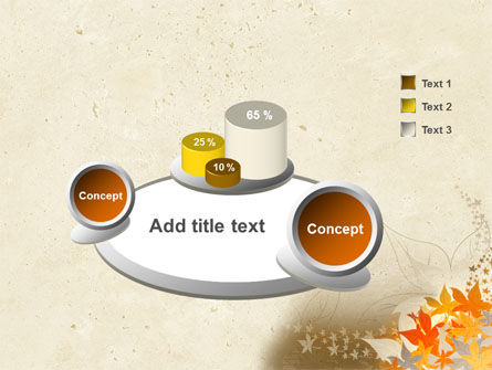 Autumn Pattern PowerPoint Template Slide 6