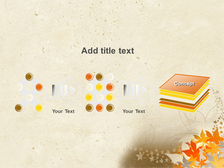 Autumn Pattern PowerPoint Template Slide 9