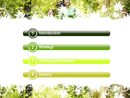Mother with Daughters PowerPoint Template, Slide 3, 06047, People — PoweredTemplate.com