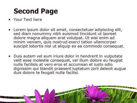 Violet Flowers PowerPoint Template, Slide 2, 06051, Nature & Environment — PoweredTemplate.com