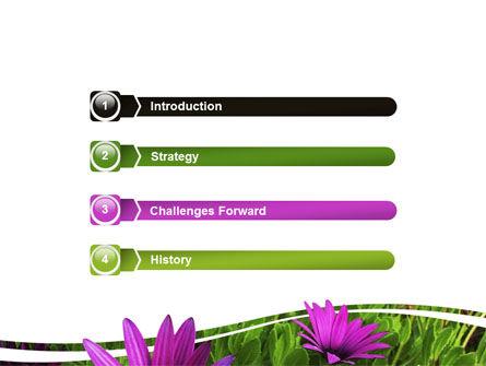 Violet Flowers PowerPoint Template, Slide 3, 06051, Nature & Environment — PoweredTemplate.com