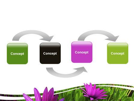 Violet Flowers PowerPoint Template, Slide 4, 06051, Nature & Environment — PoweredTemplate.com