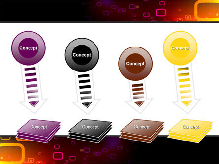 Abstract Dark Brown Graphic PowerPoint Template Slide 8