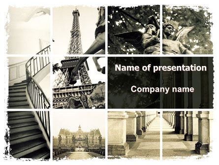 paris powerpoint template, backgrounds | 06054 | poweredtemplate, Modern powerpoint