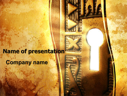 Art & Entertainment: Antique Keyhole PowerPoint Template #06056