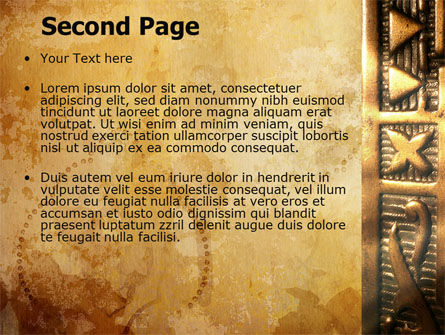 Antique Keyhole PowerPoint Template Slide 2