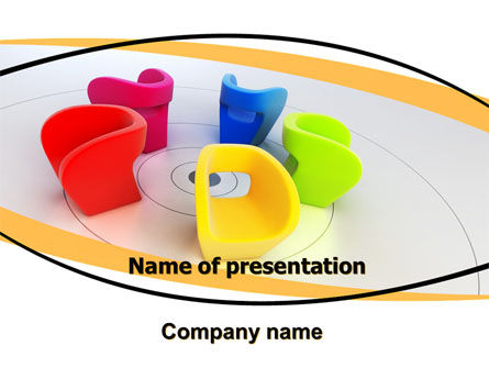 Colorful Chairs PowerPoint Template, 06057, Careers/Industry — PoweredTemplate.com