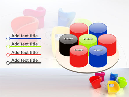 Colorful Chairs PowerPoint Template Slide 12