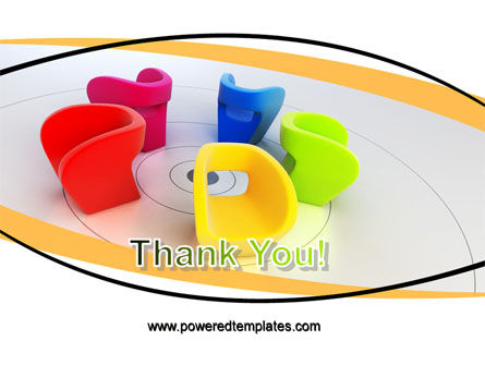 Colorful Chairs PowerPoint Template Slide 20