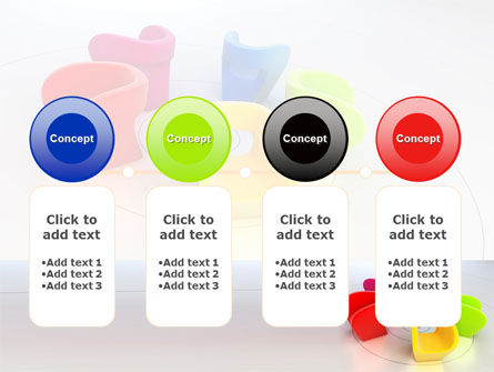 Colorful Chairs PowerPoint Template Slide 5