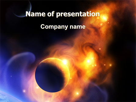 Nature & Environment: Solar Storm PowerPoint Template #06058