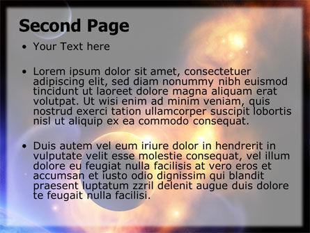 Solar Storm PowerPoint Template, Slide 2, 06058, Nature & Environment — PoweredTemplate.com