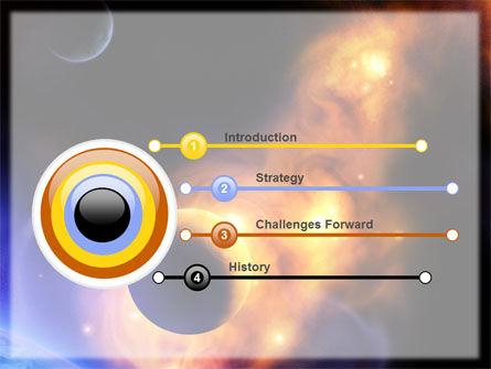 Solar Storm PowerPoint Template, Slide 3, 06058, Nature & Environment — PoweredTemplate.com