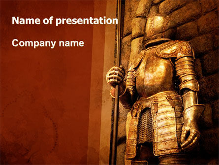 Education & Training: Knight Armor PowerPoint Template #06060