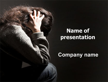 Medical: Depression PowerPoint Template #06062