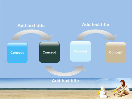 Baby on Beach PowerPoint Template, Slide 4, 06064, People — PoweredTemplate.com